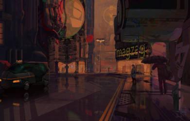 Neon V by AdrianMarkGillespie