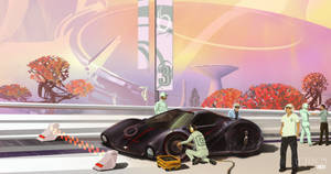 Syd Mead Tribute Illustration (Out On The Track)