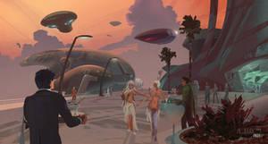 Along the Airship Promenade (Galactic Travelers I)