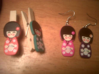 Geisha Earrings by HideTheKnives