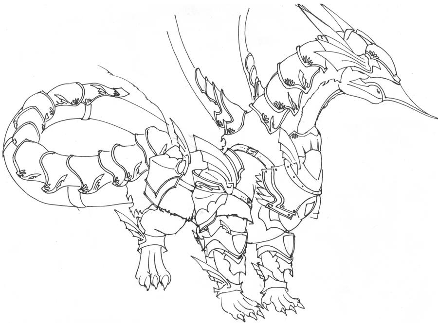 Dragon In Armor Coloring Pages