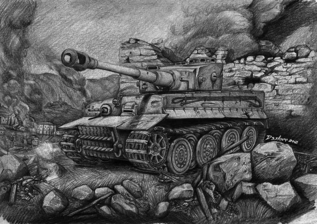 how to draw german tanks