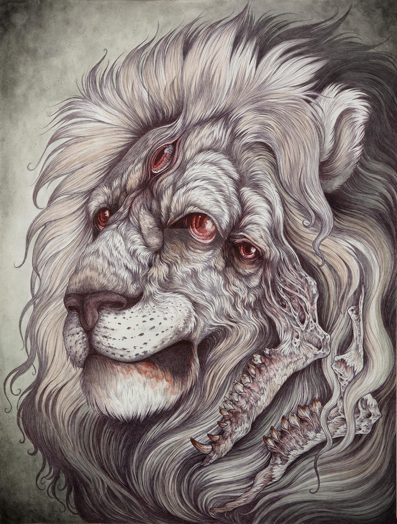 Nemean lion drawing - photo#6