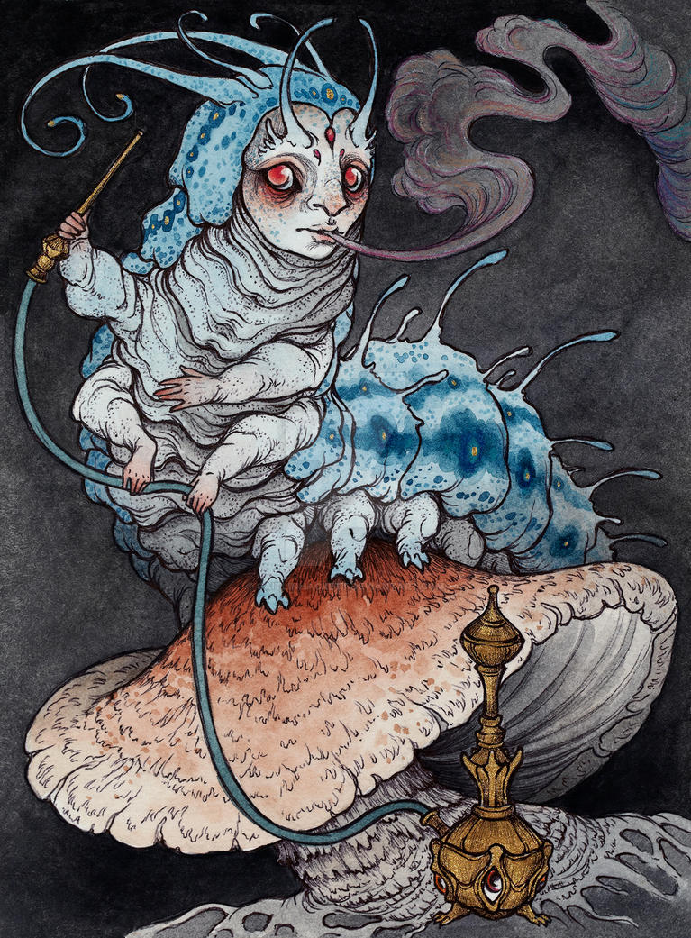 Absolem the blue caterpillar by CaitlinHackett