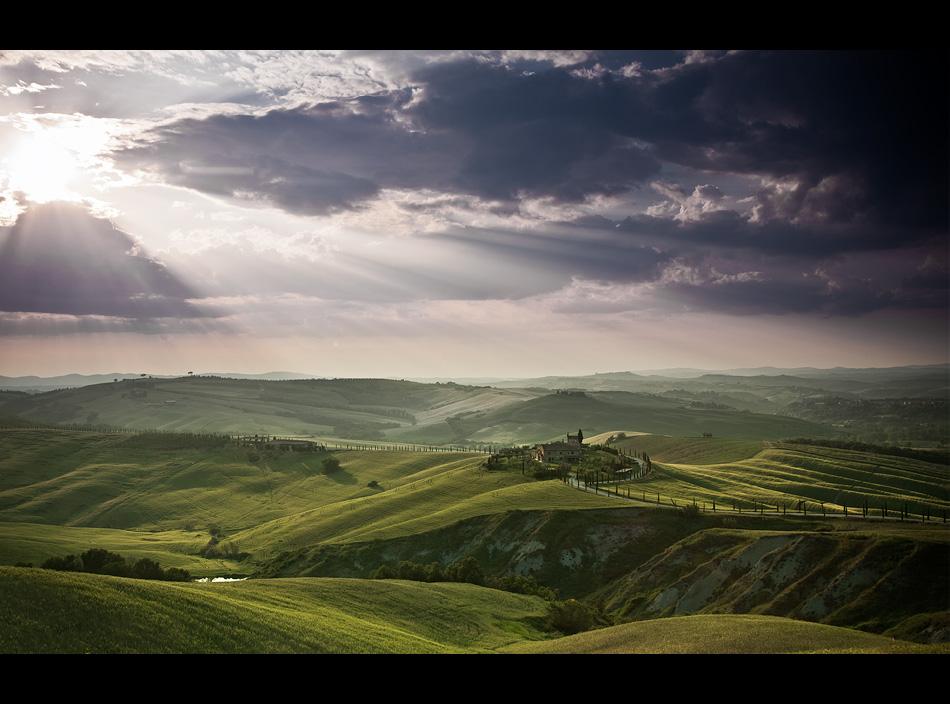tuscany landscape by Fersy
