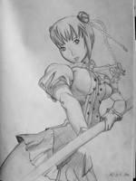 Fighter girl by EnniArt
