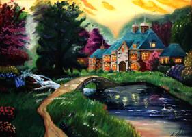 Lakeside Manor by EnniArt