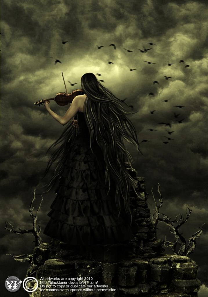 Goth Violin Shout By Blacktoner On Deviantart