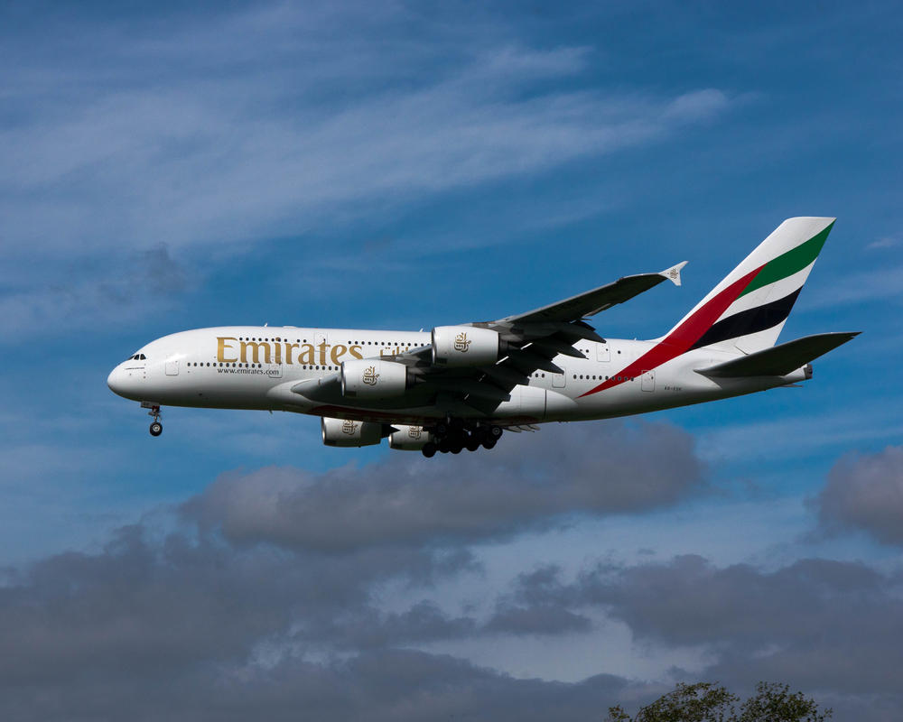 Emirates Airbus A380 by irwingcommand