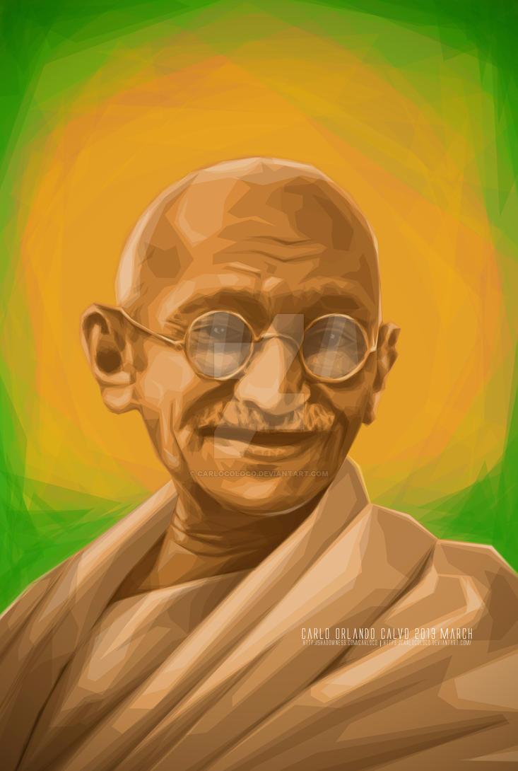 Mahatma Gandhi by carlocoloco