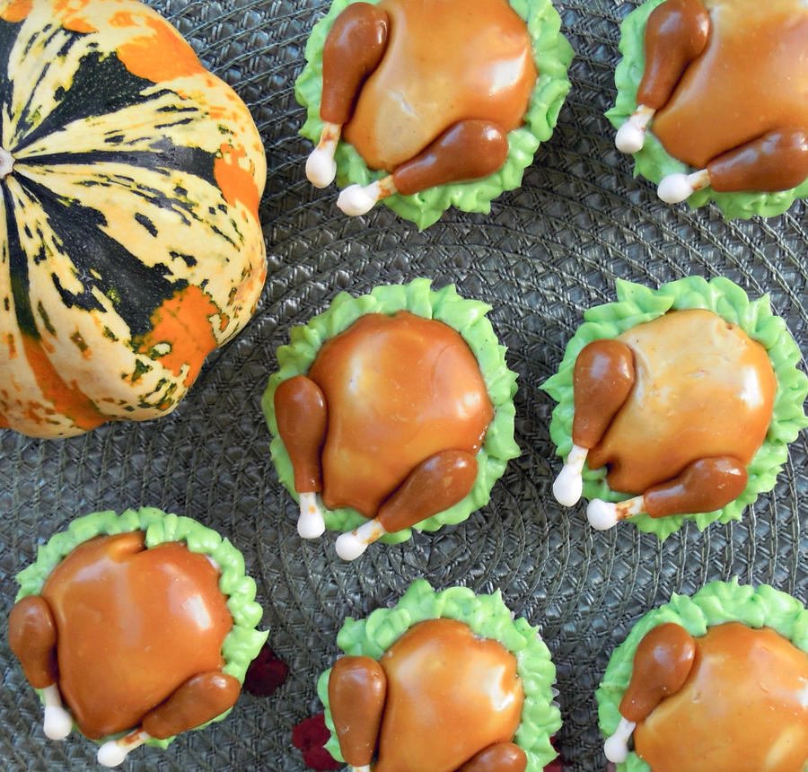 Turkey Cupcakes by cake4thought