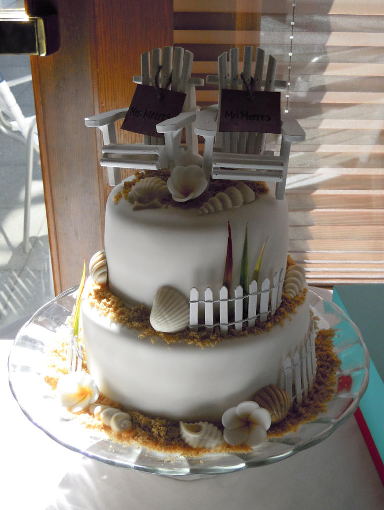 beach theme wedding cake pictures wedding cake by cake4thought on deviantart 11163