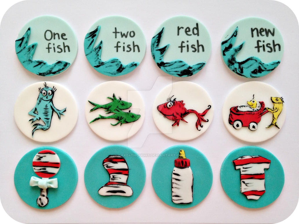 Dr Seuss Cupcake Toppers by cake4thought