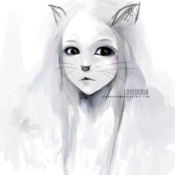 Fluffy Cat by loveDRAIN