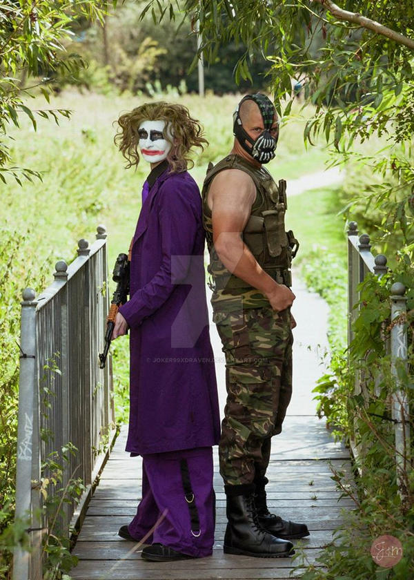 Dark Knight Joker And Bane by joker99xdraven