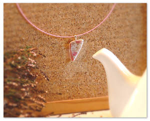 Sakura broken china pendant