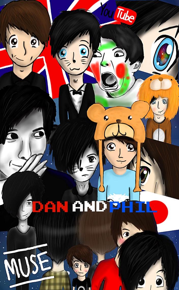 Dan and Phil T-shirt design by vishthefish2013