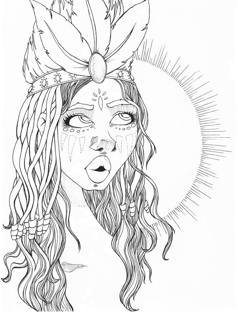 Tribal girl by neobie