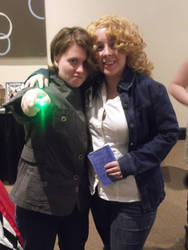 Maru Con 2013 River Song with Fem 10th Doctor by stinethecrafter