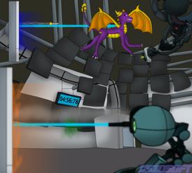 Spyro vs GLaDOS by CsioSoft