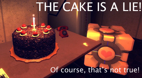 The cake is NOT a lie by CsioSoft on DeviantArt
