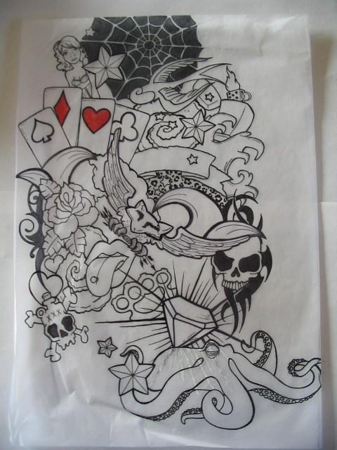 Half sleeve tattoo1 by fddcitron on deviantart for Half sleeve tattoo sketches