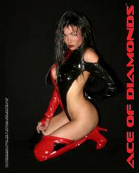 Ace of Diamonds kneeling pose