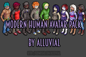 Gumroad: Modern Human Avatar Pack by Alluvial