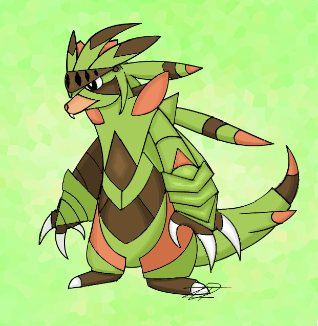 My Idea of the Final Chespin Evolution by Zandight on DeviantArt