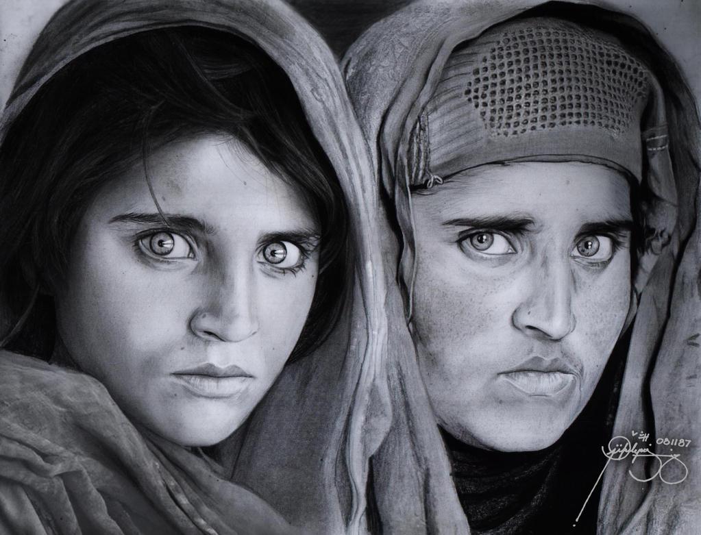 Afghan Girl (Sharbat Gula) by JikeArts