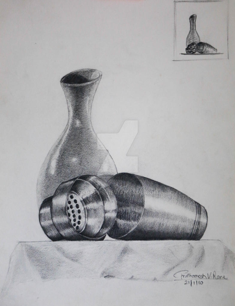 Still life pencil sketch by spapps on deviantart