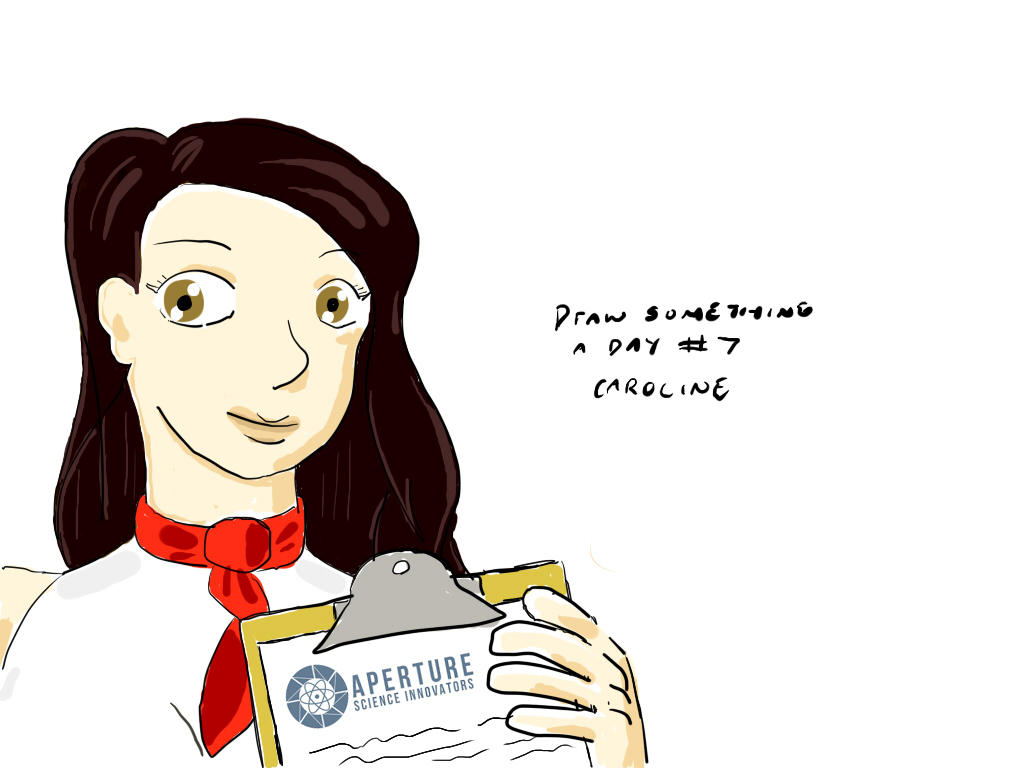 Draw-Something-A-Day #7: Caroline by Kyuuen
