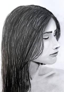 pencil drawing woman