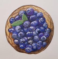 Blueberry cake illustration