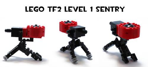 Lego TF2 Level 1 Sentry by HybridAir