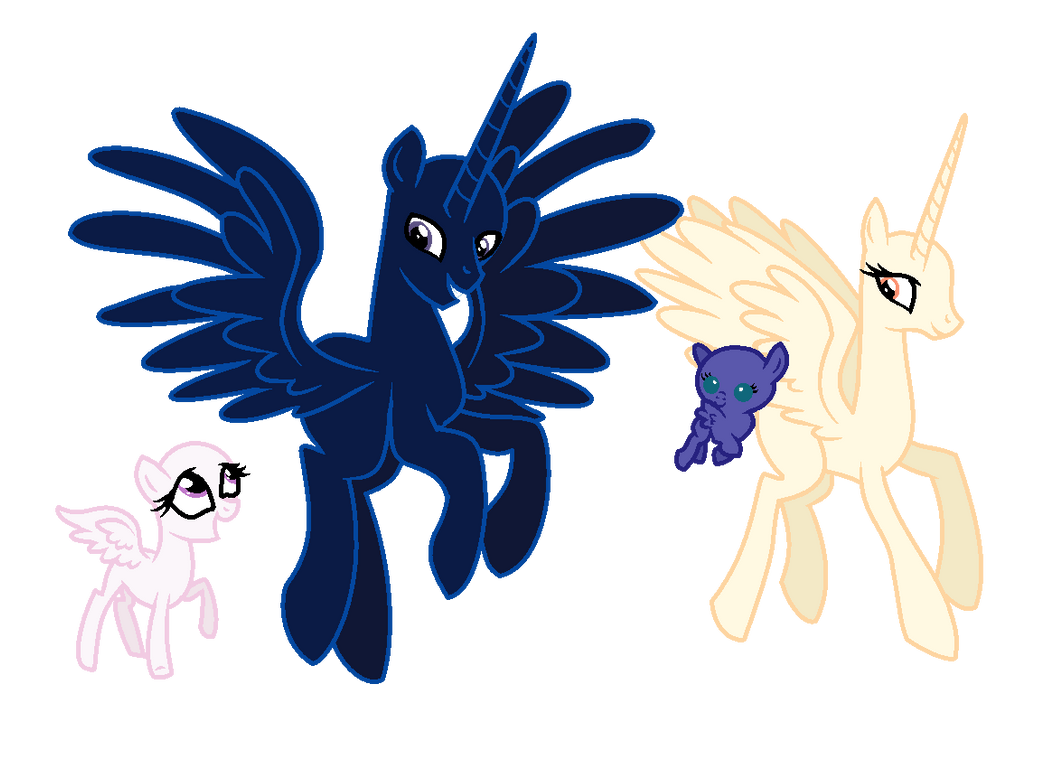 MLP Base-Happy Royal Family by GihhBloonde