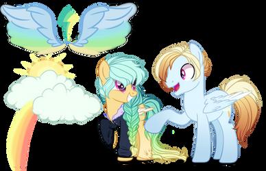 Next Gen OC Adoptable Rainbow Dash X Zephyr Breeze by GihhBloonde