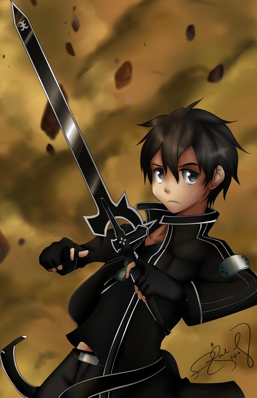 Kirito~Sword Art Online by BaconLovingWizard
