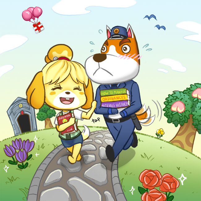 Acnl isabelle and copper by midorieyes on deviantart - Coupes animal crossing new leaf ...