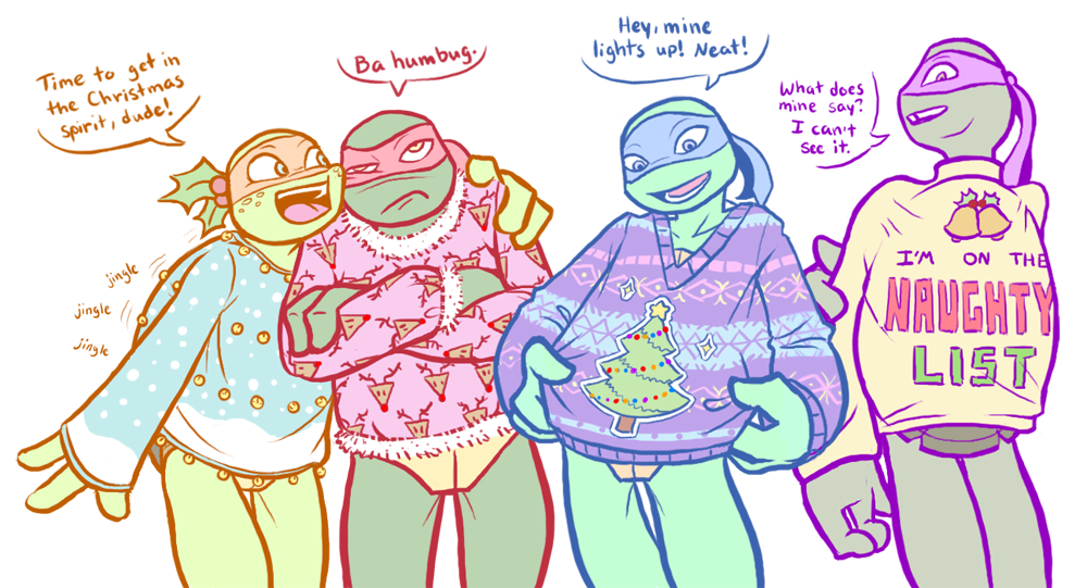 TMNT - Xmas sweaters by MidoriEyes on DeviantArt