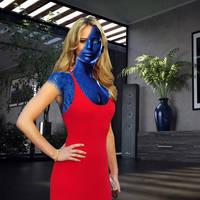 Jennifer Lawrence as Mystique transforming 1