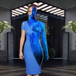 Jennifer Lawrence as Mystique transforming 2