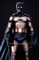 Adam West - Dark Knight by c44zi