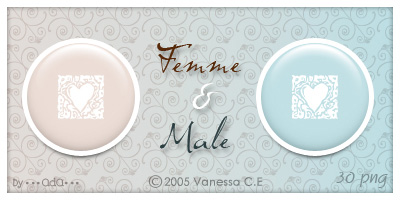 Femme et Male - Dock Icons by oooAdAooo