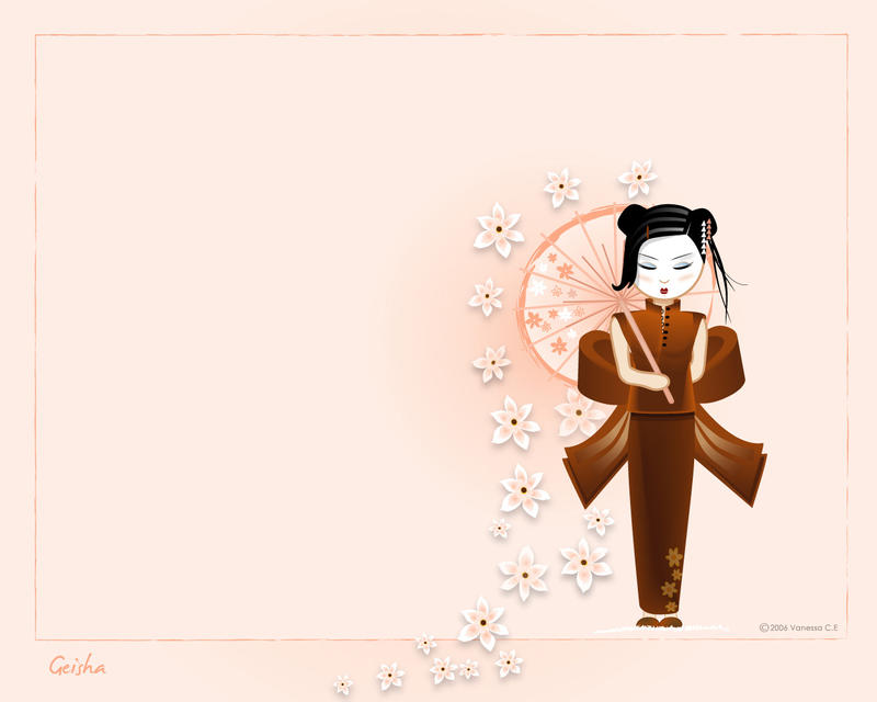 Geisha Wallpaper by oooAdAooo