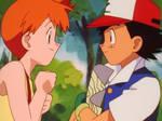 Ash reveals the path to Vermilion City to Misty