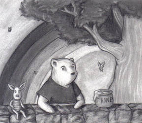 Piglet and Pooh by R-Newman