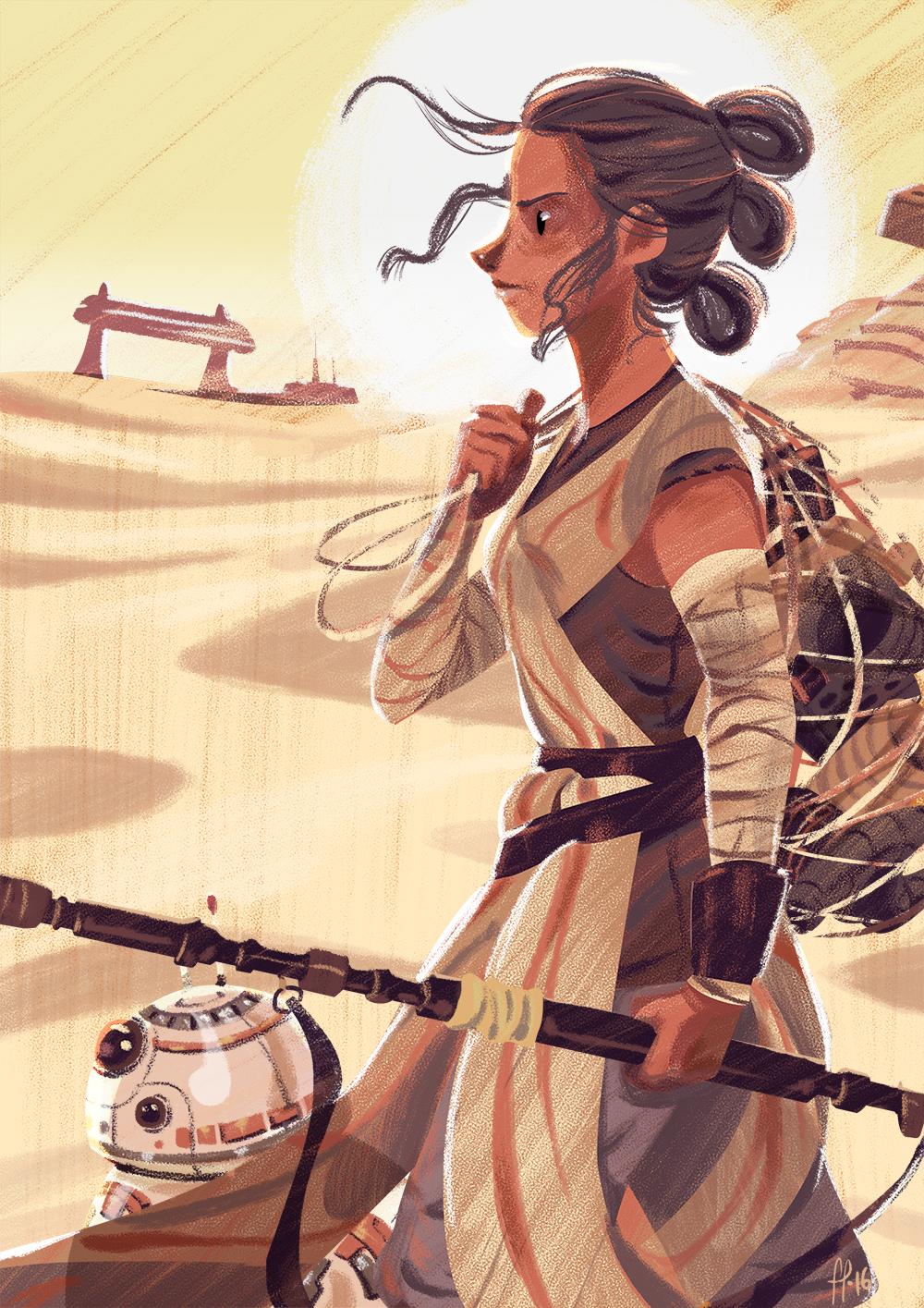 Rey, The scavenger by ArtofFlo