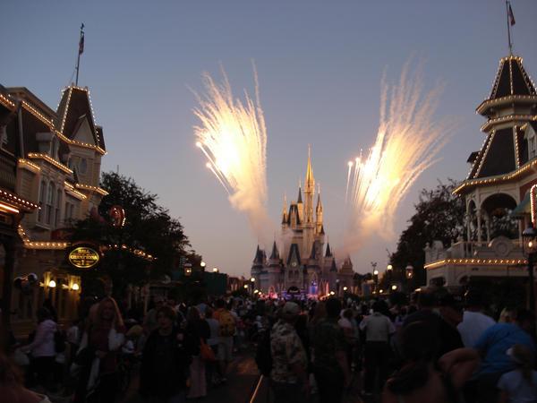 Disney fire works... by Solar-Fennec
