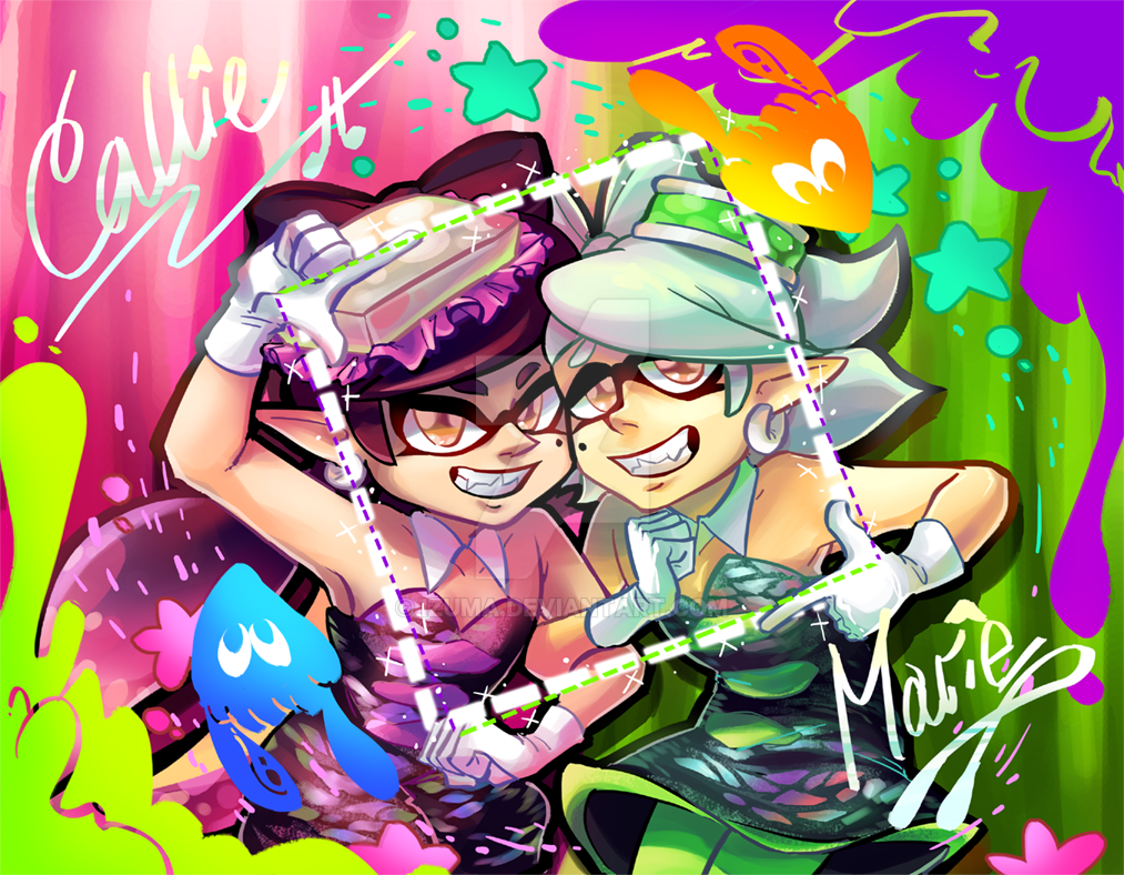 Callie And Marie Wallpaper: Squid Sister Autograph By Izuma On DeviantArt